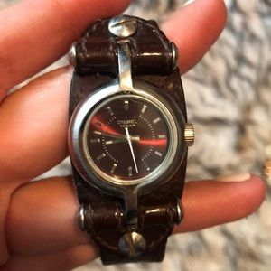 Diesel Accessories - Diesel leather band watch